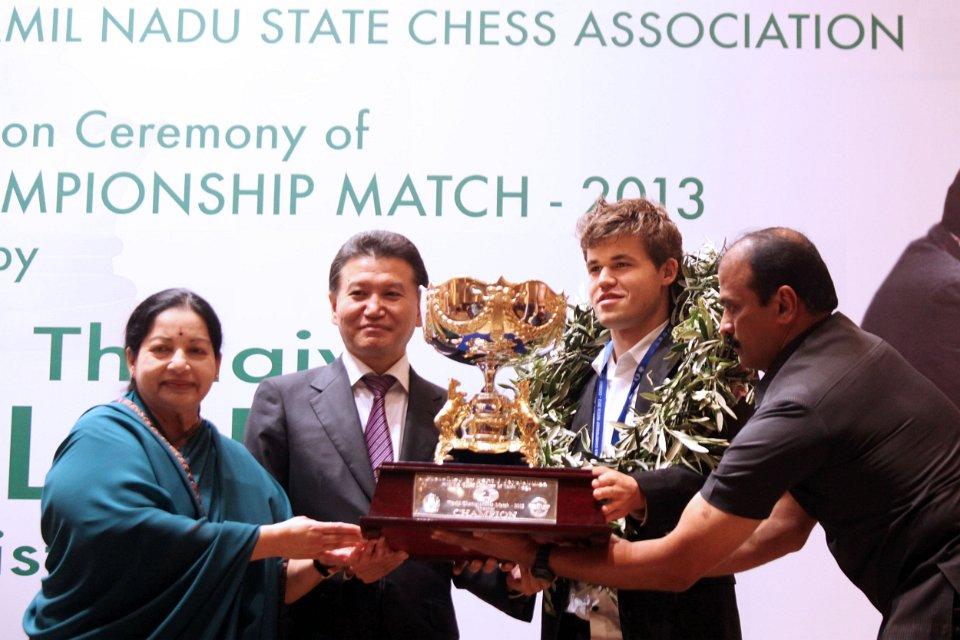 Ilyumzhinov and Carlsen, 2013